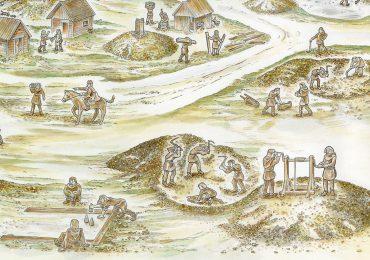Kulturweg Eisen Eisenerzpingen Bergleute legten Schächte an und suchten nach Erz