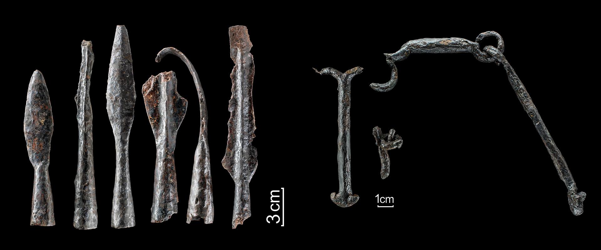 Kulturweg Eisen Eisenzeitliche Eisenzeitliche Wallburg Funde Fragmente einer eisenzeitlichen Kette Waffenausrüstungen