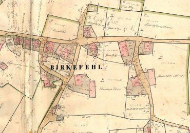 Kulturweg Eisen Siedlung Birkefehl Ortsmitte von Birkefehl Urkataster 1838